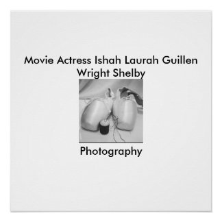 Movie Actress Ishah Black and White Photography Poster