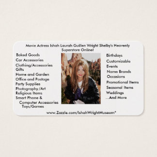 Movie Actress Ishah Laurah Guillen Wright Shelby Business Card