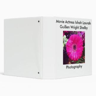Movie Actress Laura Guillen aka Ishah Photography 3 Ring Binder