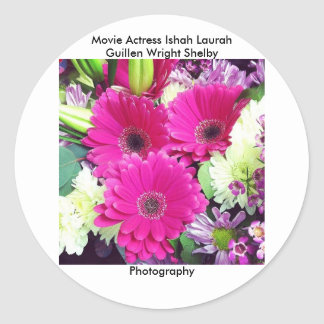 Movie Actress Laura Guillen aka Ishah Photography Classic Round Sticker