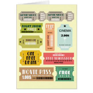 Movie Admission Tickets Card