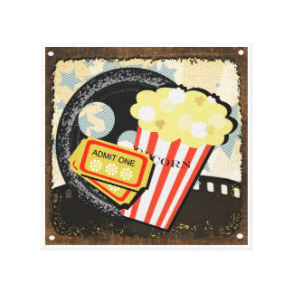Movie and Entertainment Room Decor - Canvas Print