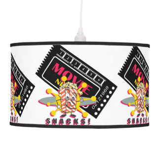 Movie and Popcorn Snacks Pendant Lamp