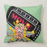 Movie and Popcorn Snacks Throw Pillow