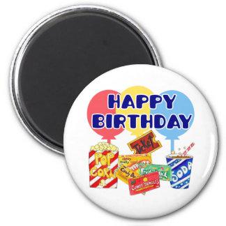 Movie Birthday 2 Inch Round Magnet