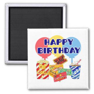 Movie Birthday 2 Inch Square Magnet