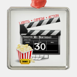 Movie Birthday Party 30th Birthday Metal Ornament