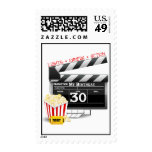 Movie Birthday Party 30th Birthday Stamps