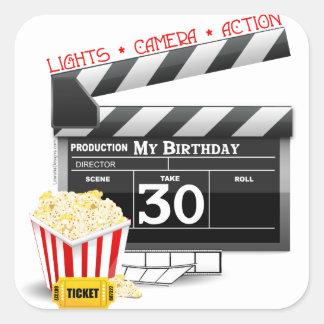 Movie Birthday Party 30th Birthday Sticker