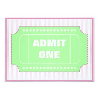 Movie Birthday Party Green Purple 5x7 Paper Invitation Card