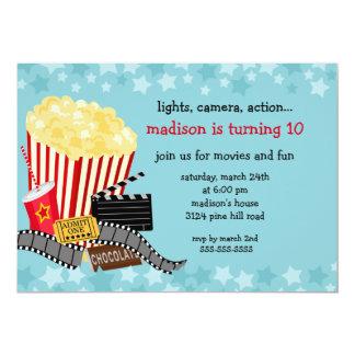 "Movie Birthday Party Invitation 5"" X 7"" Invitation Card"