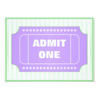 Movie Birthday Party Purple Green 5x7 Paper Invitation Card