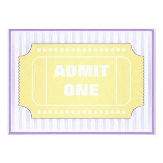 Movie Birthday Party Yellow Purple 5x7 Paper Invitation Card