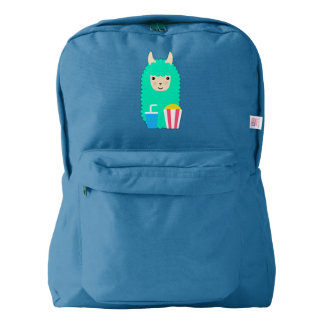 Movie Buff Llama Emoji American Apparel™ Backpack