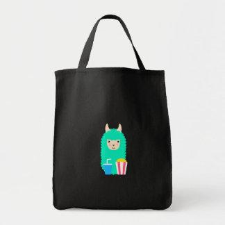 Movie Buff Llama Emoji Tote Bag