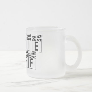 Movie Buff T-shirts and Gifts. Frosted Glass Coffee Mug