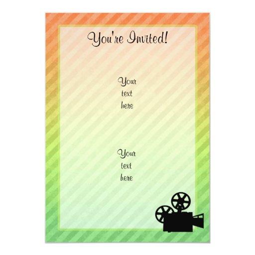 Movie Camera 5x7 Paper Invitation Card