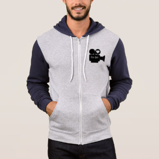 MOVIE CAMERA AND HEART FOR FILM BUFFS HOODIE