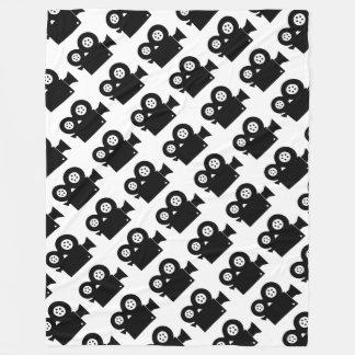 "MOVIE CAMERA (BLACK AND WHITE) Fleece 60""x80"""