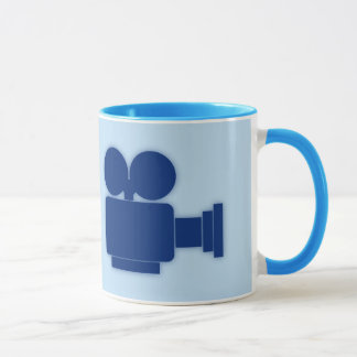 MOVIE CAMERA (BLUE DESIGN) MUG
