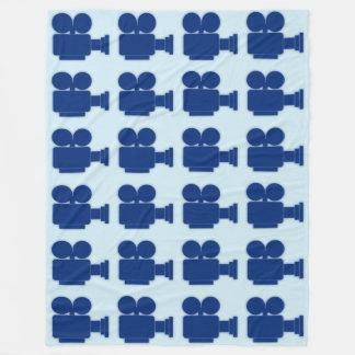 "MOVIE CAMERA (BLUE) Fleece 60""x80"""