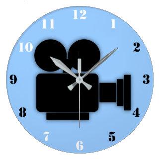 MOVIE CAMERA (BLUE) Wall Clock