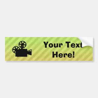 Movie Camera Car Bumper Sticker