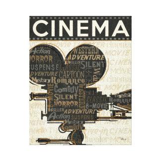 Movie Camera Reel Canvas Print