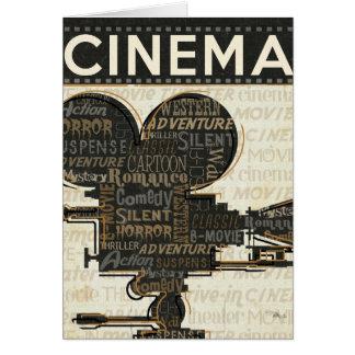 Movie Camera Reel Card