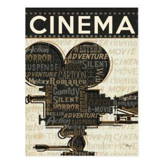 Movie Camera Reel Postcard
