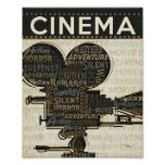 Movie Camera Reel Poster
