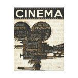 Movie Camera Reel Stretched Canvas Print