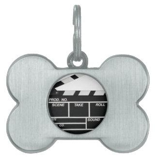 Movie Camera Side Pet Name Tag