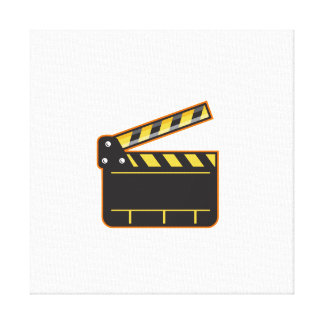 Movie Camera Slate Clapper Board Open Retro Canvas Print
