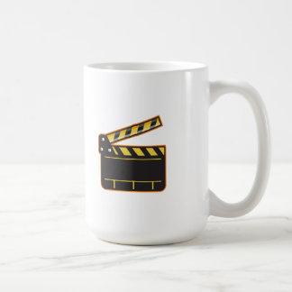 Movie Camera Slate Clapper Board Open Retro Coffee Mug