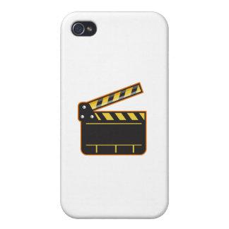 Movie Camera Slate Clapper Board Open Retro iPhone 4 Cover