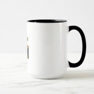 Movie Camera Slate Clapper Board Open Retro Mug