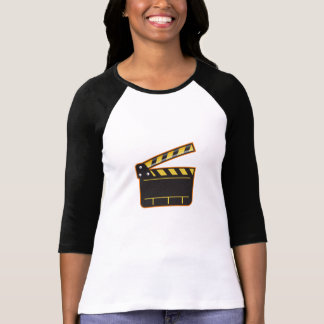 Movie Camera Slate Clapper Board Open Retro T-Shirt