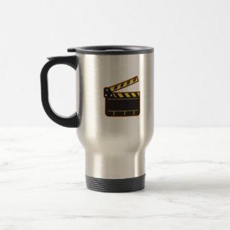 Movie Camera Slate Clapper Board Open Retro Travel Mug