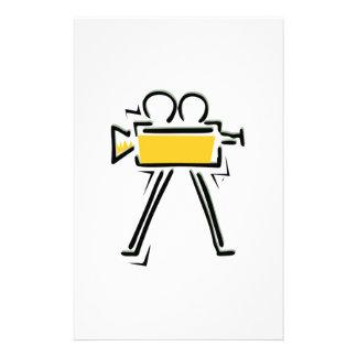 Movie Camera Stationery Paper