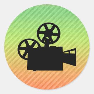 Movie Camera Classic Round Sticker
