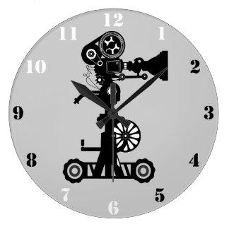 MOVIE CAMERA Wall Clock