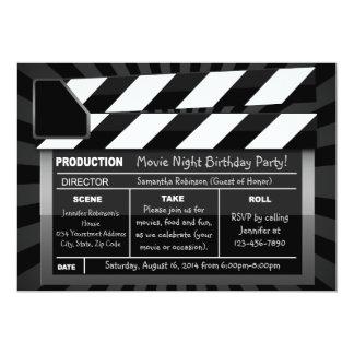 "Movie Clap Board Custom Party Invitations 5"" X 7"" Invitation Card"