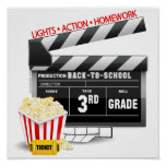 Movie Clapboard 3rd Grade Posters