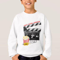 Movie Clapboard 3rd Grade Sweatshirt