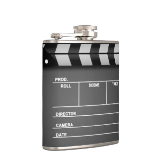 Movie Clapboard Flask Hip Flasks