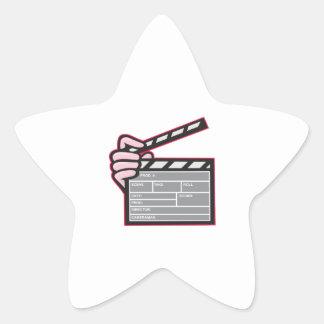 Movie Clapboard Hand Cartoon Star Sticker