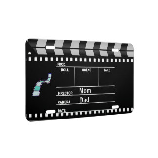 Movie Clapboard License Plate