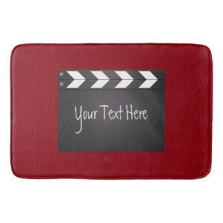Movie Clapboard Red And Black Bathroom Mat