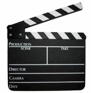 Movie Clapboard Slate Keychain Photo Sculptures